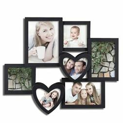 Adeco 7 Openings Decroative Black Collage Picture Frame - Ma