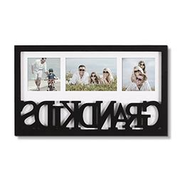Adeco Decorative Black White Wood ''Grandkids'' Wall Hanging