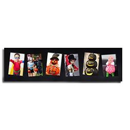 Adeco  Decorative Black Wood Wall Hanging collage Picture Ph