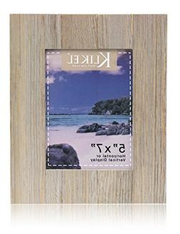 Klikel Distressed Wood 5 X 7 Picture Frame - Grey Solid Wood