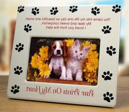 BANBERRY DESIGNS Dog Memorial Picture Frame - Pet Paw Prints