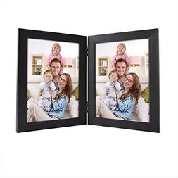 Giftgarden 5 by 7 inch Double Picture Frame PVC lens Photo f