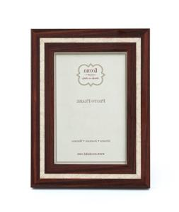 Eccolo Marquetry Photo Frame, Holds a 5 by 7-Inch Photo, Mot