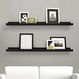 Kiera Grace Edge Picture Frame Ledge, 44 by 4-Inch, Set of 2