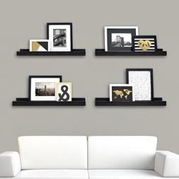 Kiera Grace Edge Picture Frame Ledge, 23 by 4-Inch, Set of 4