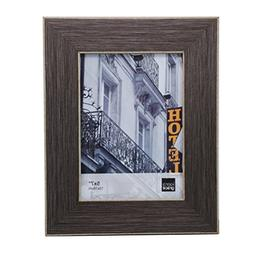 Kiera Grace Emery Picture Frame, 5 by 7-Inch, Brushed Pewter
