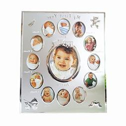 MY FIRST YEAR Baby 12 month Picture Frame Photo Moments Colo