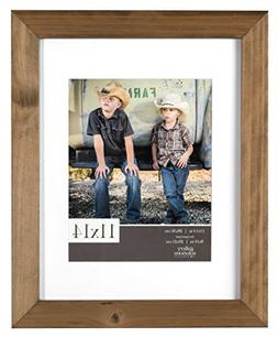 Gallery Solutions 11x14 Flat Ash Wood Wall Picture Frame wit
