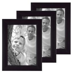 MCS 5x7 Inch Flat-Top Frame 3-Pack, Black