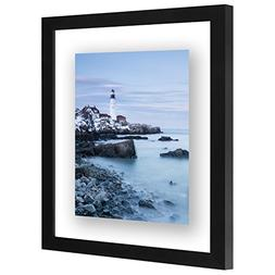 Americanflat 11x14 Inch Floating Frame - Modern Picture Fram