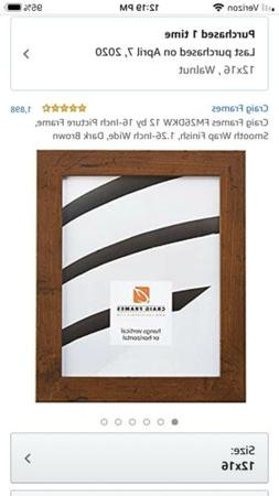 Craig Frames Fm26Dkw 12 By 16-Inch Picture Frame, Smooth Wra