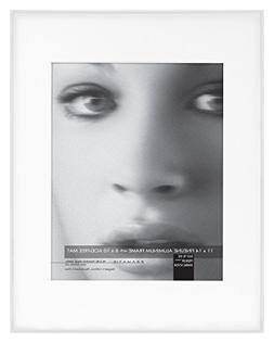Framatic Fineline 11x14 Inch Aluminum Frame Matted to 8x10 I