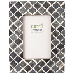 Eccolo Naturals Frame, 5 by 7-Inch, Moorish Tiles Gray