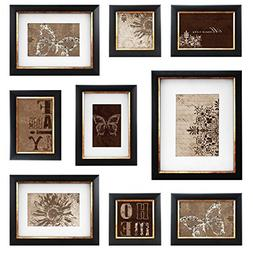 MCS  9pc Frame Set with Usable Artwork, Bronze Finish