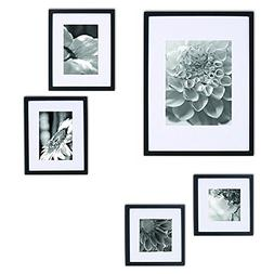 Gallery Perfect 5 Piece Black Wood Photo Frame Wall Gallery