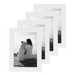 DesignOvation Gallery Picture Frame, 4x6, White