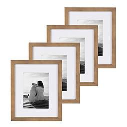 DesignOvation Gallery Picture Frame, 8x10 matted to 5x7, Rus