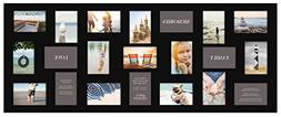 Gallery Solutions Black 21-opening Collage Frame