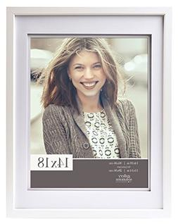 Gallery Solutions 14x18 Wood Wall Frame with Double Mat for