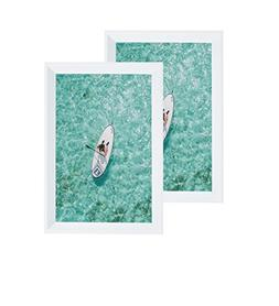 Glossy White Picture Frame 5X7 inch  Photo Display with Ease