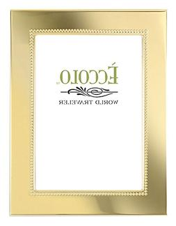 "Eccolo Gold Collection Photo Frame, 5 by 7"", Smooth Beaded"