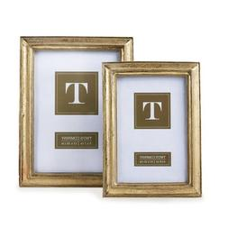 Two's Company Gold Leaf Photo Frames, Includes 2 Sizes, Set