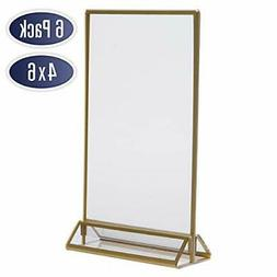 gold picture frames double sided 6 pack