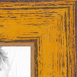 ArtToFrames 16x20 inch Gold Rustic Barnwood Wood Picture Fra