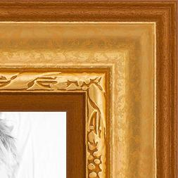 ArtToFrames 9x12 inch Gold Speckeled Wood Picture Frame, WOM