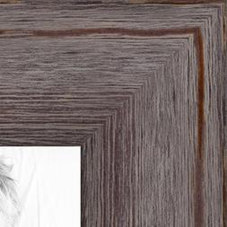 ArtToFrames 16x20 inch Grey - Distressed Wood Wood Picture F