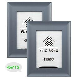 Grey Wooden Picture Frames with Wide Molding - 5x7, 8x10, 11