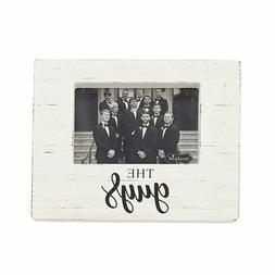 Mud Pie The Guys White Washed Wooden Block Frame