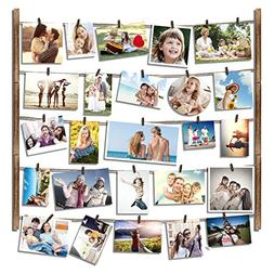 RooLee Hanging Picture Frame - Wood Picture Frame Collage fo