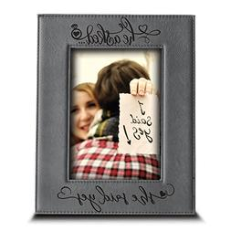 BELLA BUSTA He asked. She said YES- Engagement Leather Photo