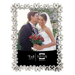 Prinz Heart to Heart Shiny Silver Plated Metal Frame with Je