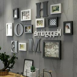 Home Art Decor Photo Picture Frame Collage Set Plaques Wall