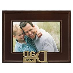 Malden International Designs I Heart Brass Word Dad Picture