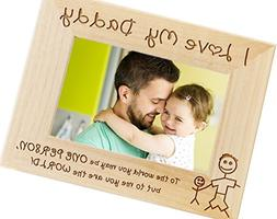 I Love My Daddy Wood Photo Frame - Fathers Day Gift Picture