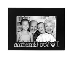 I Love You Grandma Picture Frame, Glass Front - Color: Black