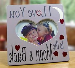 I Love You Picture Frame - Heart Shaped Frame with I Love Yo