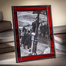 J Devlin Pic 325-57HV 5x7 Picture Frame Red Stained Glass Ph