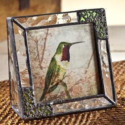 J Devlin Pic 352-33 Stained Glass 3x3 Picture Frame Clear Te