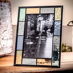 J Devlin Pic 412-46HV Stained Glass 4x6 Picture Frame Pastel
