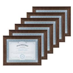 DesignOvation Kieva Solid Wood 8.5x11 Document Frames, Distr
