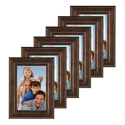 DesignOvation Kieva Solid Wood Picture Frame, Distressed Esp