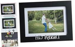 Klikel Daddys Girl Picture Frame - Black Wood Frame With Fat