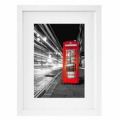 11x14 white picture frame displays 8x10 inch