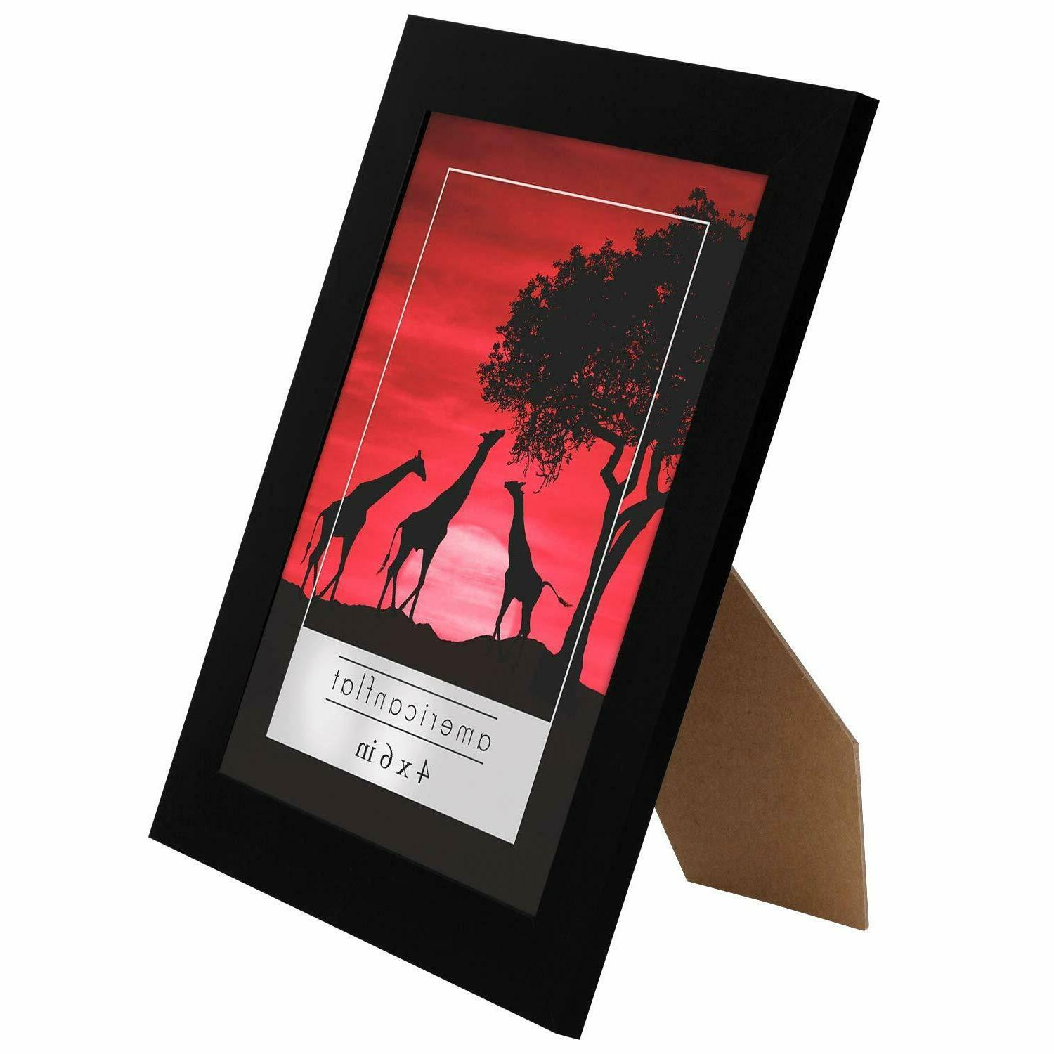 Americanflat 4x6 Picture Frames Display