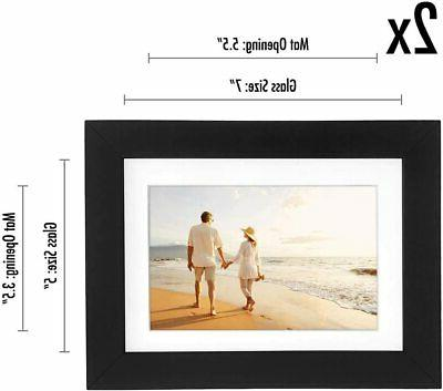Americanflat 2 Pack Black Picture 4x6, 6x8