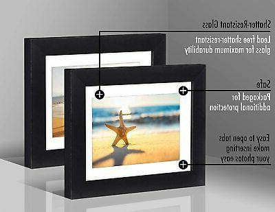 Americanflat Black Picture Frames Easel- 4x6, 5x7, 6x8